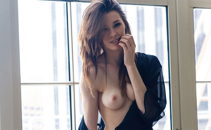Caitlin McSwain Teasing in Natural Light