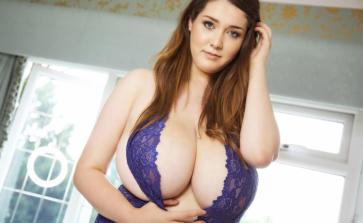 Bella Brewer in Purple Lingerie