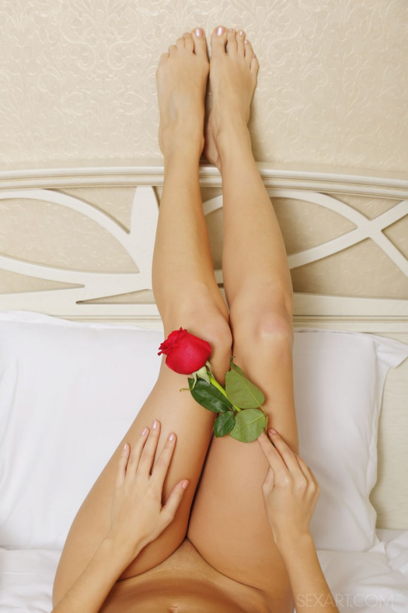 Alise Moreno Teasing with a Rose