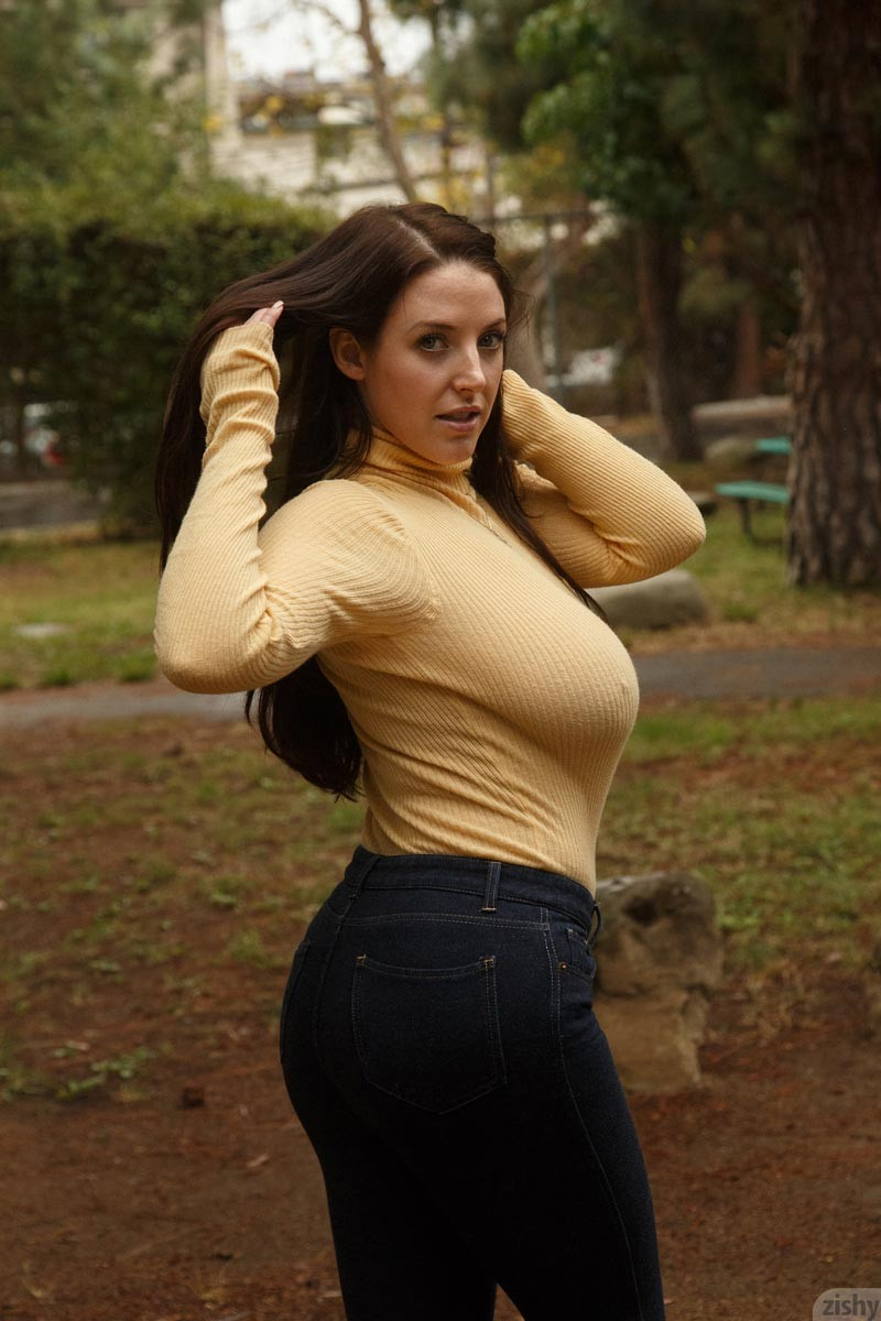 Angela White Big Boobs in a Sexy Sweater