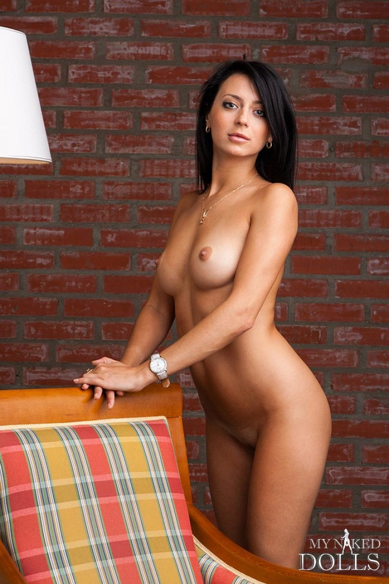 Dark Brunette Undressing