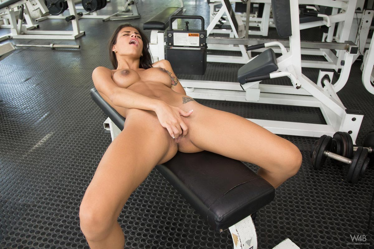 Denisse Gomez in the Gym
