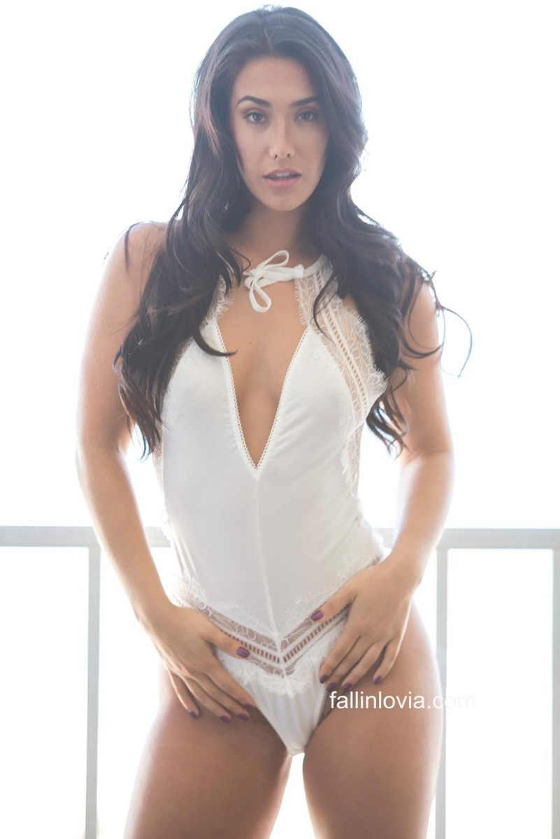 Eva Lovia Sexy in White