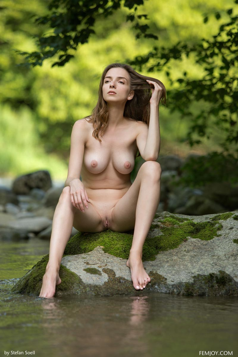 Mariposa Naked in the River