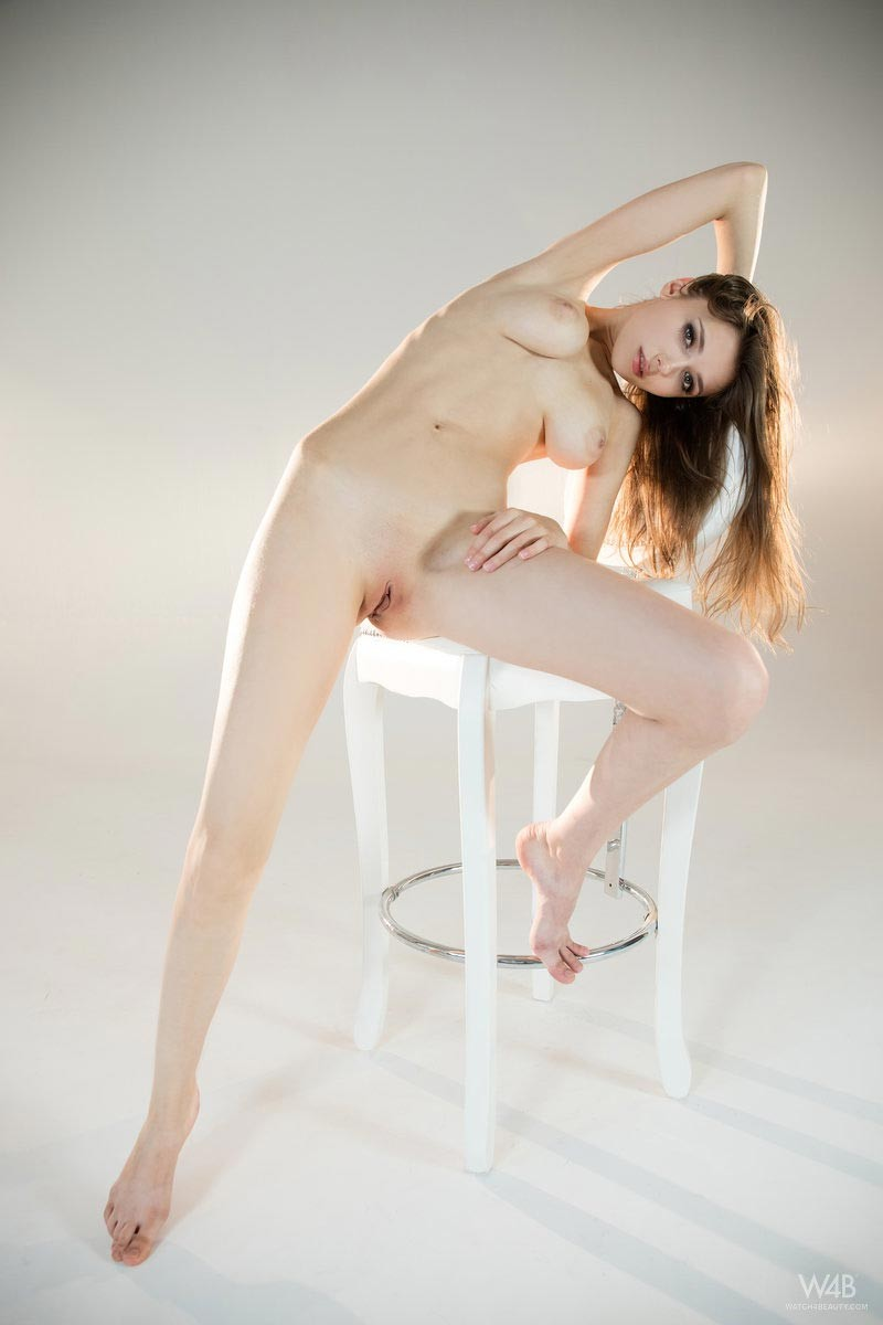 Mila Azul Pink Shaved Pussy