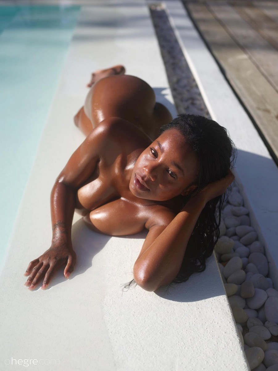Wet Ebony With a Big Ass