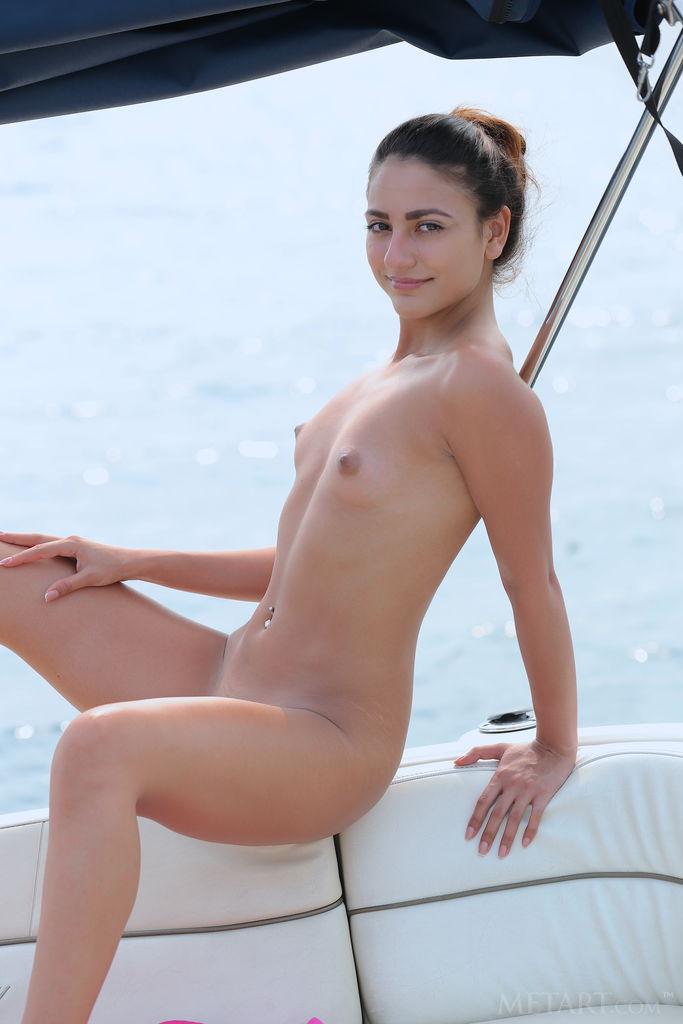Cira Nerri Naked Brunette on a Boat